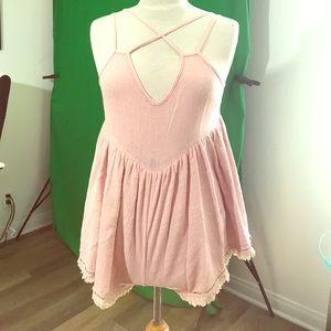 Rosebullet Pants - Rosebullet pink beach romper